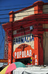 San Salvador, El Salvador, Central America: pharmacy and cables - 4a calle Poniente - farmacia - photo by M.Torres