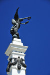 San Salvador, El Salvador, Central America: Parque Libertad - Liberty monument - statue and obelisk - photo by M.Torres