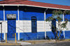 San Salvador, El Salvador, Central America: school building in the colors of the Salvadoran flag - Escuela Parvularia - 17a Av Sur - photo by M.Torres