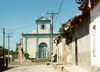 El Salvador - Ilobasco: street and colonial church - photo by G.Frysinger