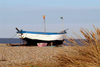 Suffolk, East England: an old fishing boat on the coast - photo by F.Hoskin