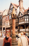 Chester, Cheshire, North West England, UK: pillory - photo by M.Torres