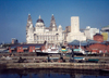 England (UK) - England - Liverpool / LPL (Merseyside): waterfront area - Cunard Lines building in the background - Pier Head - Unesco world heritage site - photo by M.Torres