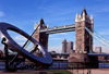 London, England: sun dial by the Tower bridge - photo by B.Henry