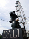 London: British Airways London Eye - statue at the entrance to Dal� Universe - photo by K.White