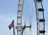 London: British Airways London Eye - Union Jack (photo by K.White)