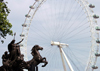 London: British Airways London Eye and Statue of Bodicea (photo by K.White)