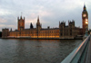 London: Houses of Parliament - at dusk - from Westminster Bridge - photo by K.White