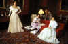 Warwick, Warwickshire, West Midlands, England: Victorian life - waxworks by Madame Tussaud's at the castle - photo by A.Sen