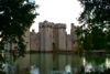Robertsbridge, East Sussex, South Eeast England, UK: Bodiam castle and the moat - photo by K.White