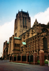 Liverpool, Merseyside, North West England, UK: Liverpool Anglican Cathedral - St. James' Mount - designed by Sir Giles Gilbert Scott - photo by M.Torres