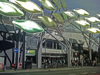 London, England: Stratford Centre's metal trees, Newham - photo by A.Bartel