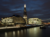 London, England: The Shard, City Hall, South Bank, Thames river - nocturnal - photo by A.Bartel