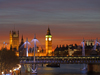 London, England: Houses of Parliament, Big Ben ant the Thames river - nocturnal - photo by A.Bartel