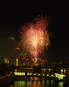 London: Big Ben, Fireworks, River Thames - photo by A.Bartel