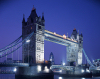 London: Tower Bridge - night arrives - photo by A.Bartel