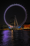 London: British Airways London Eye - Millennium Wheel - at night - photo by M.Torres