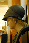 London: British museum - goddess Athena - classical bust - Age of Enlightenment exhibition - photo by M.Torres