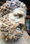 London: British museum - bust of Hercules - Age of Enlightenment exhibition - photo by M.Torres