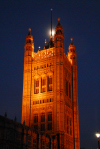 London: Westminster Palace - Victoria Tower at the House of Lords end of the palace - photo by  M.Torres
