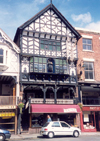 Chester, Cheshire, North West England, UK: tudor touch - art gallery - photo by M.Torres