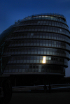 London:  the City Hall - Leaning Tower of Pizzas or Fosters Nutsack - headquarters of the Greater London Authority and the Mayor of London - designed by Norman Foster - south bank - photo by M.Torres