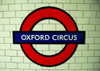 London: Oxford Circus station - metro sign - photo by M.Torres