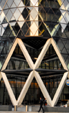 London, England: entrance to the Gherkin - Swiss Re Tower - City of London - photo by M.Torres