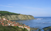 Robin Hood's Bay, North Yorkshire, England: Bay Town town and the North Sea - photo by D.Jackson