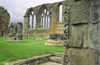 Whitby North Yorkshire, England: ruins of Whitby Abbey - windows - photo by D.Jackson