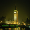 England - London: Big Ben and Westminster bridge - nocturnal lights - photo by W.Allgower