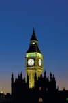 England - London: Big Ben and parliament silhouette - nocturnal - photo by A.Bartel