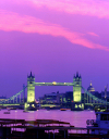England - London: Tower Bridge - purple sky - photo by A.Bartel