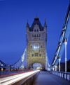 England - London: Tower Bridge - car lights - long exposure - photo by A.Bartel