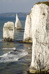 Old Harry Rocks, Jurassic Coast, Dorset, England: vertical cliffs and the Pinnacles - Handfast Point - UNESCO World Heritage Site - photo by I.Middleton