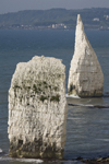 Old Harry Rocks, Jurassic Coast, Dorset, England: The Pinnacles - chalk stacks - UNESCO World Heritage Site - photo by I.Middleton