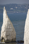 Old Harry Rocks, Jurassic Coast, Dorset, England: The Pinnacles - conical chalk stack - UNESCO World Heritage Site - photo by I.Middleton
