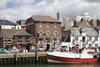 Weymouth, Dorset, England: fishing boat and the George Inn - photo by I.Middleton