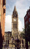 Manchester, North West, England: City Hall - Albert square - architect Alfred Waterhouse - photo by M.Torres