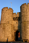 Canterbury, Kent, South East England: Westgate - city wall gates and towers - photo by I.Middleton