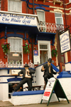Margate, Kent, South East England: Jake and Elwood, the Blues Brothers outside the Malvern hotel and blues grill - Eastern Esplanade, Cliftonville - photo by I.Middleton
