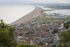 Portland Bill, Dorset, South West England, UK: view of Chesil Beach, a tombolo that connects the Isle of Portland to Weymouth - photo by I.Middleton