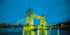 London, England: Tower Bridge - it carries the A100 Tower Bridge Road - nocturnal - photo by A.Bartel