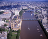 London, England: Houses of Parliament and the Thames - Aerial - photo by A.Bartel
