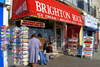 Brighton, East Sussex, England, United Kingdom: exterior of a shop selling 'Brighton rock', a sugar confectionery - photo by B.Henry
