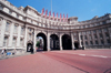 London: Admiralty Arch - the Royal Navy flies its flags - gateway from Trafalgar Square to Buckingham Palace - designed by Sir Aston Webb - photo by Craig Ariav)