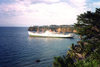 Bioko island / isla de Fernando Pó, Equatorial Guinea: Malabo - cargo ship on the bay - photo by B.Cloutier