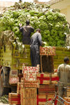 Eritrea - Asmara: unloading a banana truck in the market - photo by E.Petitalot