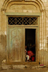 Eritrea - Massawa, Northern Red Sea region: Ottoman architecture - a door in the old quarter - photo by E.Petitalot
