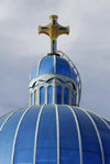 Eritrea - Keren, Anseba region: blue dome of the Catholic Cathedral - photo by E.Petitalot